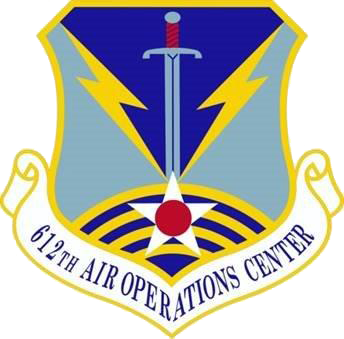 Official shield of 612th Air Operations Center